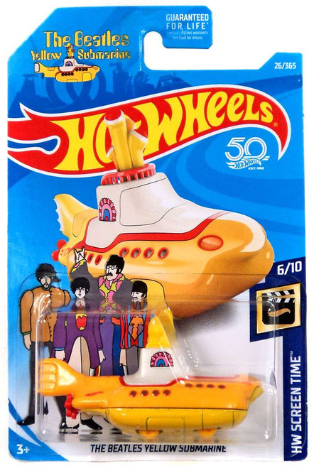 Hot Wheels The Beatles Yellow Submarine Die-Cast Car FJW38 [6/10]