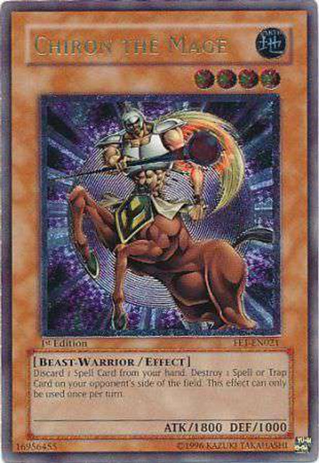 YuGiOh Flaming Eternity Ultimate Rare Chiron the Mage FET-EN021