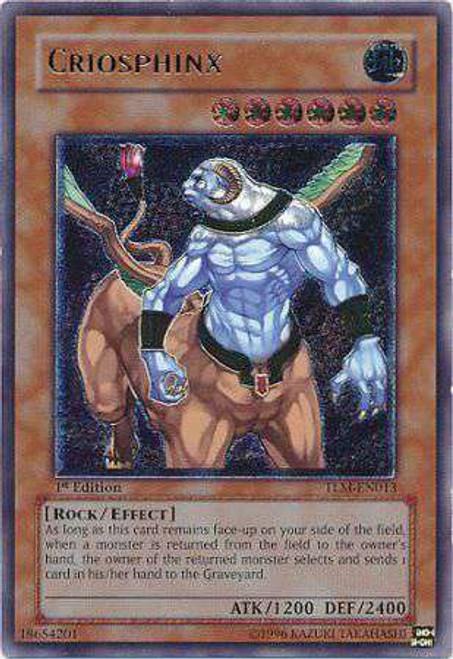 YuGiOh The Lost Millennium Ultimate Rare Criosphinx TLM-EN013
