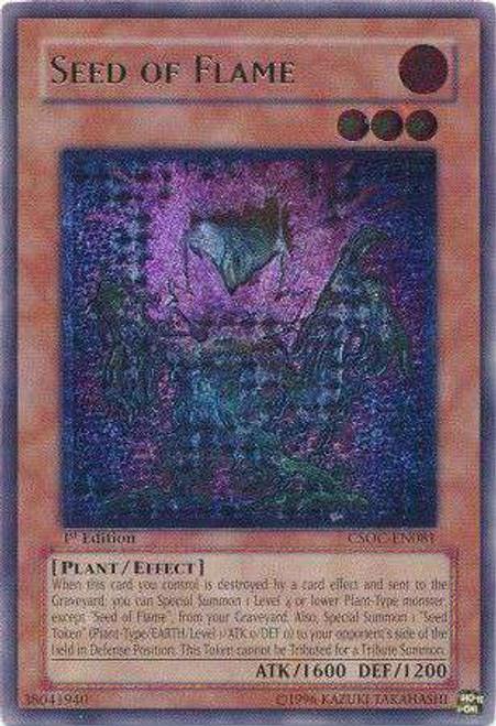 YuGiOh Crossroads of Chaos Ultimate Rare Seed of Flame CSOC-EN081