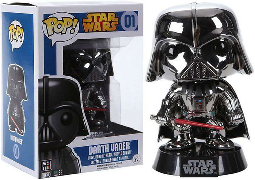 Funko POP! Star Wars Darth Vader Exclusive Vinyl Bobble Head #01 [Chrome Variant]