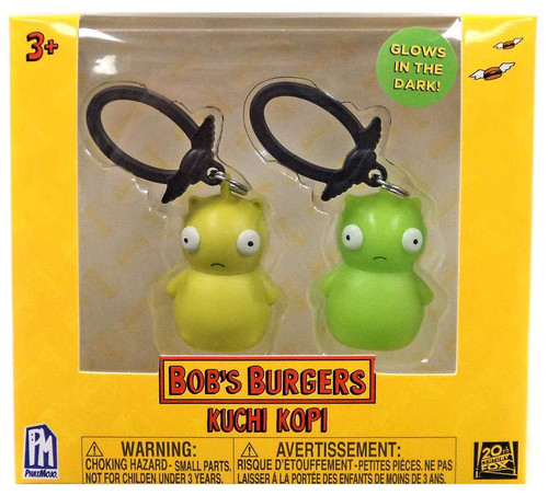 Bob's Burgers Clip On Hanger Kuchi Kopi Collector Clip 2-Pack [Glows-in-the-Dark]