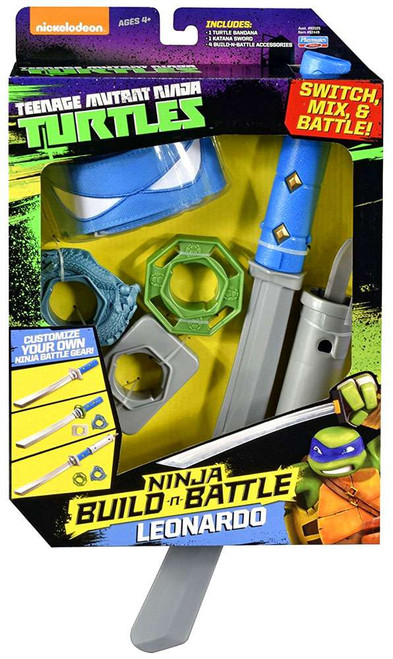 Teenage Mutant Ninja Turtles Ninja Build-n-Battle Leonardo Roleplay Set