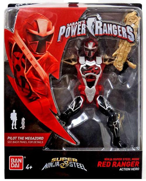 Power Rangers Super Ninja Steel Ninja Super Steel Mode Red Ranger Action Figure