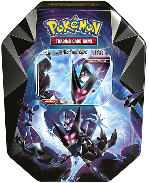 Pokemon Trading Card Game 2018 Dawn Wings Necrozma GX Tin Set [4 Booster Packs & Promo Card!]