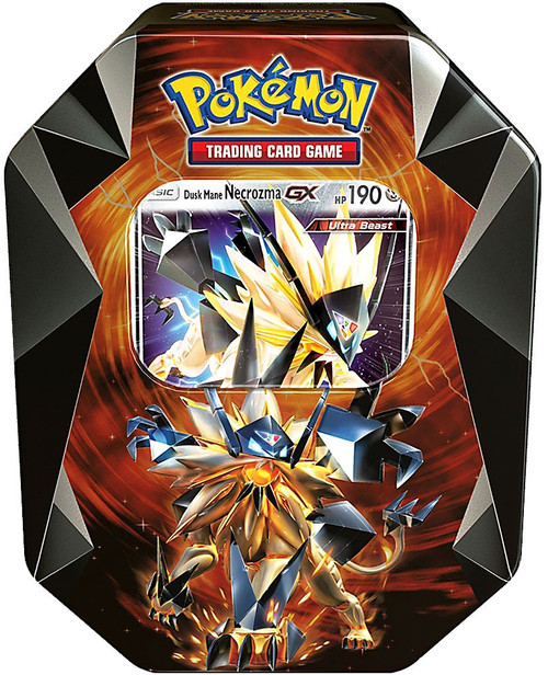 Pokemon Trading Card Game 2018 Dusk Mane Necrozma GX Tin Set
