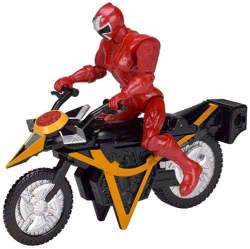 Power Rangers Super Ninja Steel Mega Morph Cycle with Red Ranger Action Figure