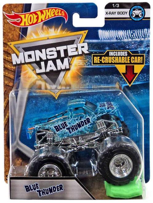 Hot Wheels Monster Jam 25 Blue Thunder Die-Cast Car #1/3 [X-Ray Body]