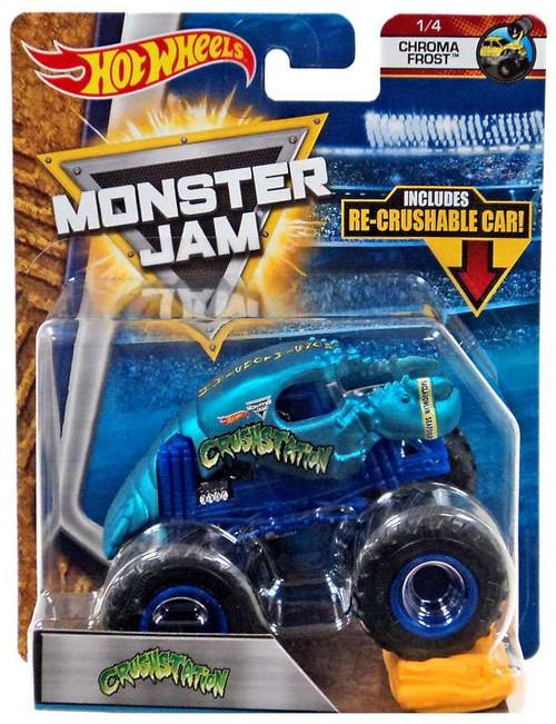 Hot Wheels Monster Jam 25 Crushstation Die-Cast Car #1/4 [Chroma Frost]