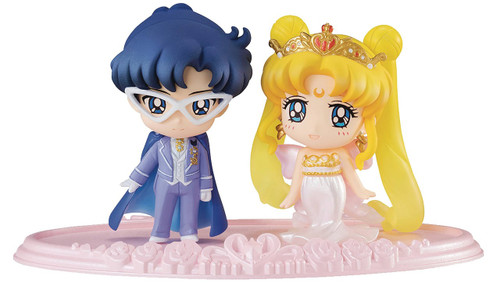 Sailor Moon Petit Chara Neo Queen Serenity & King Endymion 2-Inch Figure Set