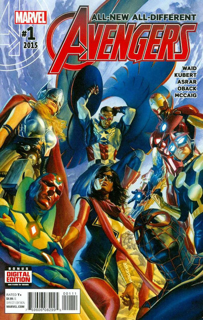 Marvel Comics Vol. 4 All-New All-Different Avengers #1 Comic Book [Alex Ross]