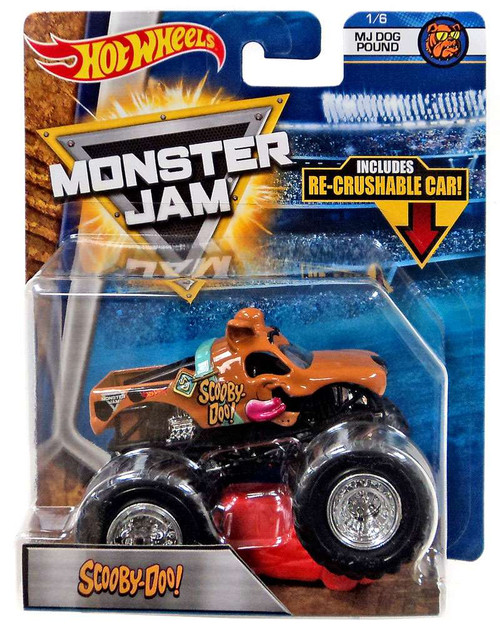 Hot Wheels Monster Jam Scooby-Doo! Die-Cast Car #1/6 [MJ Dog Pound, Re-Crushable Car]