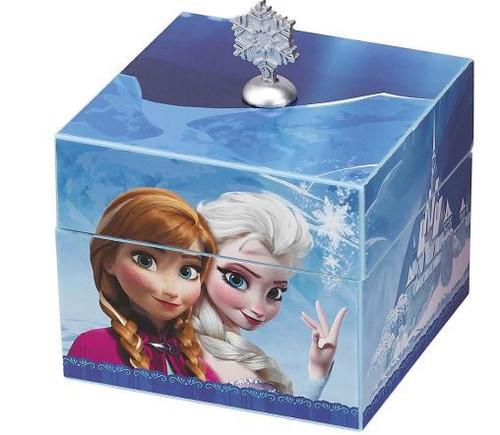 Disney Frozen Anna & Elsa Musical Keepsake Box [Blue, No Pendant]