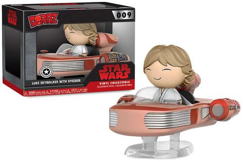 Funko Star Wars Dorbz Ridez Luke Skywalker with Speeder Exclusive Vinyl Collectible
