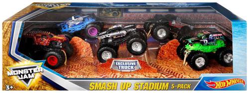 Hot Wheels Monster Jam 25 Epic Smash Up Stadium Diecast Car 5-Pack