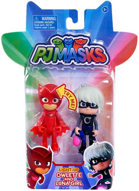Disney Junior PJ Masks Owlette & Luna Girl Light-Up Action Figure 2-Pack