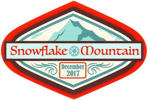 Funko Disney Snowflake Mountain December 2017 Sticker