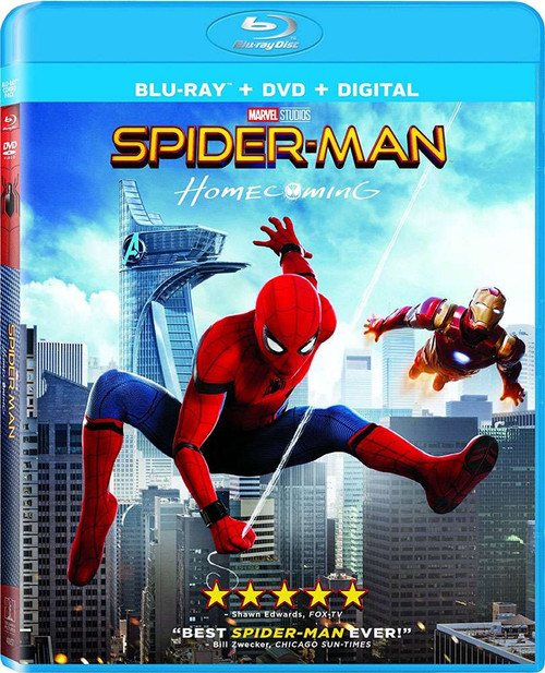 Marvel Spider-Man: Homecoming Blu-Ray [+ DVD + Digital]