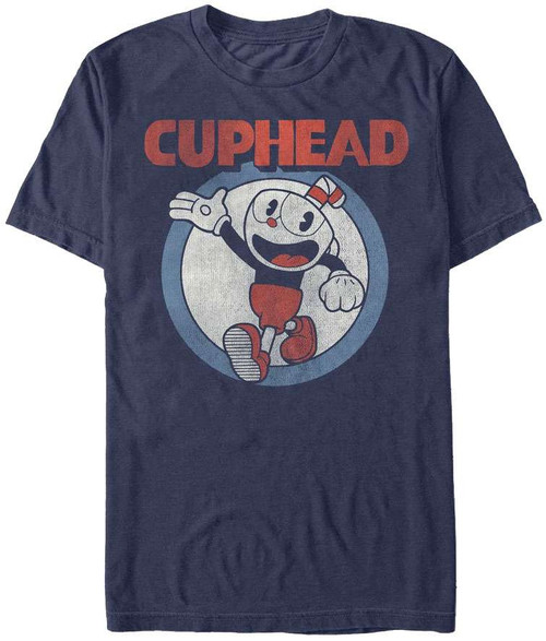 Cuphead Vintage Circle T-Shirt [Large]