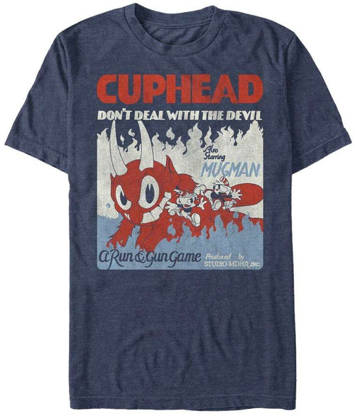 Cuphead Run & Gun Game T-Shirt [Large]