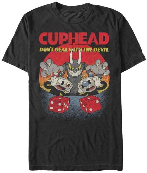 Cuphead Don't Deal Snake Eyes T-Shirt [Medium]