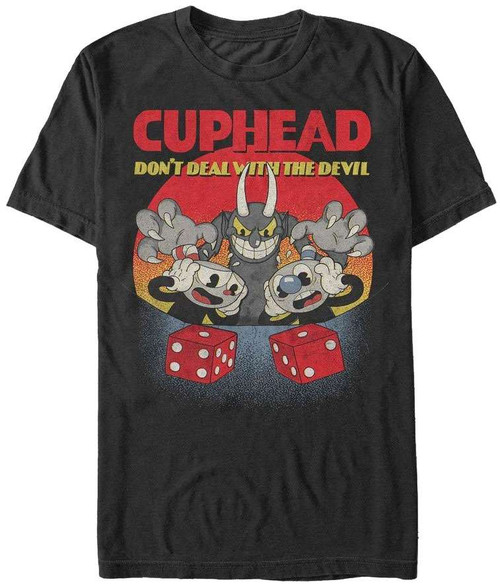 Cuphead Don't Deal Snake Eyes T-Shirt [X-Large]