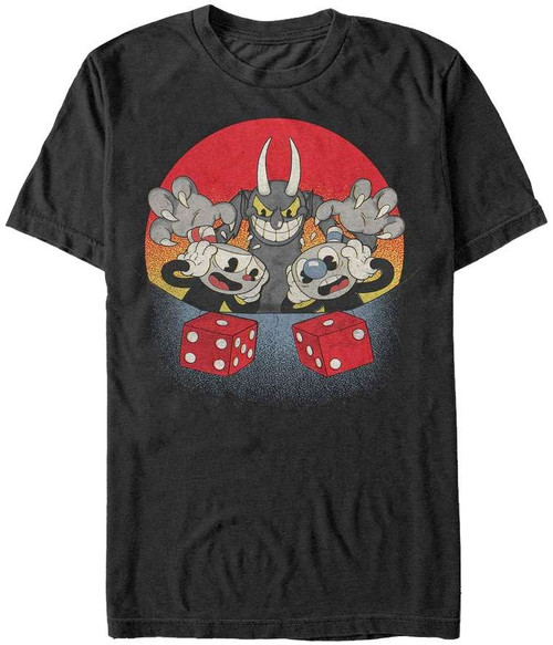 Cuphead Snake Eyes T-Shirt [X-Large]