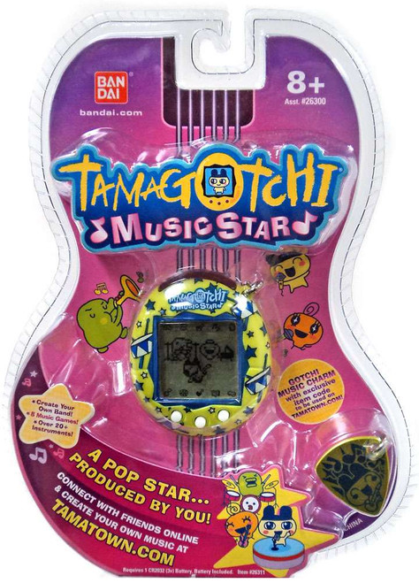 Tamagotchi Music Star Version 6 Drums & Stars Virtual Pet [Green & Blue]
