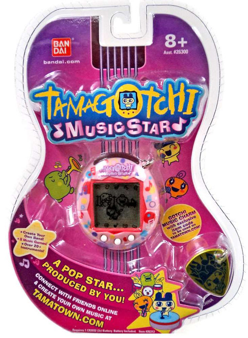 Tamagotchi Music Star Version 6 Musical Notes Virtual Pet [Pink]