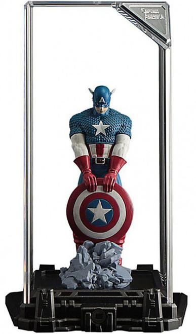 Marvel Super Hero Illuminate Gallery Captain America 4-Inch Statue & Display Case