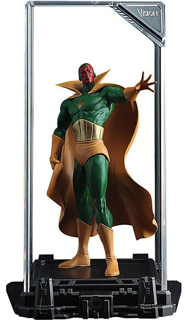 Marvel Super Hero Illuminate Gallery Vision 4-Inch Statue & Display Case