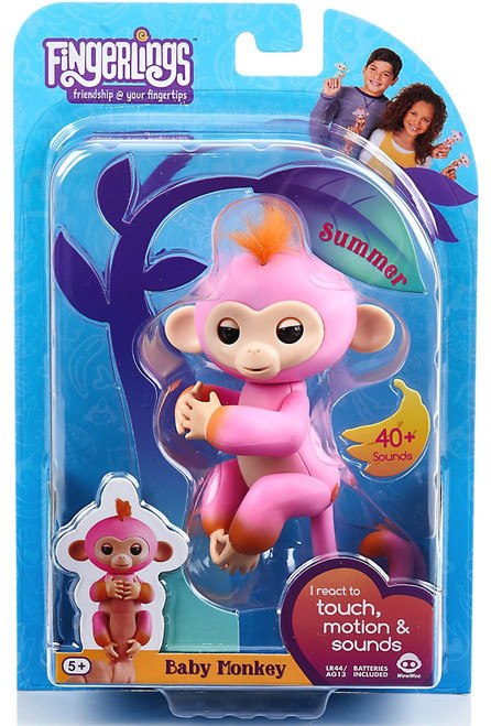 Fingerlings Baby Monkey Summer Figure
