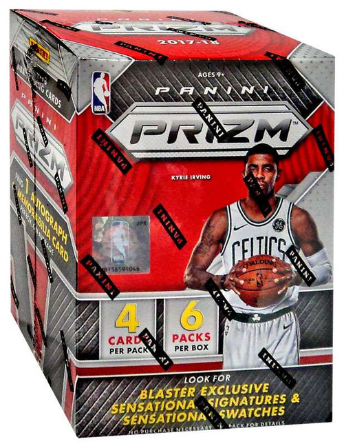 NBA Panini 2017-18 Prizm Basketball Trading Card BLASTER Box [6 Packs, 1 Autograph OR Memorabilia Card]