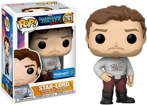 Funko Guardians of the Galaxy POP! Marvel Star-Lord Exclusive Vinyl Bobble Head #261 [Gearshift Shirt]