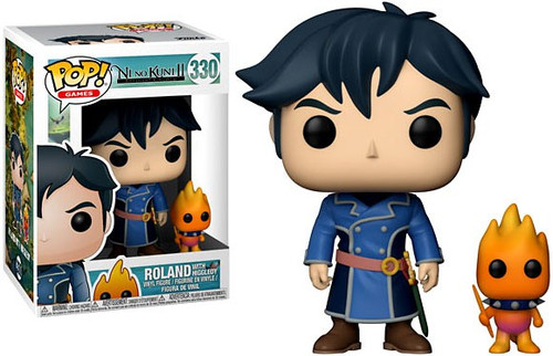 Funko Ni No Kuni2 POP! Video Games Roland with Higgledy Vinyl Figure & Buddy #330