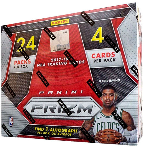 NBA Panini 2017-18 Prizm Basketball Trading Card RETAIL Box [24 Packs, 1 Autograph!]