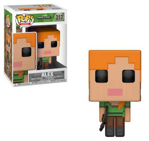 Funko Minecraft POP! Video Games Alex Vinyl Figure #317
