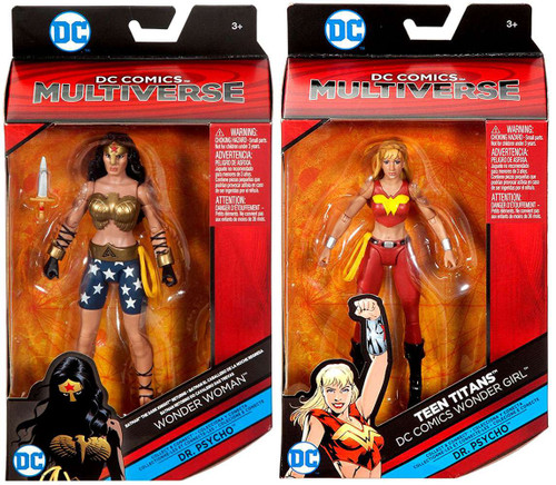 DC Teen Titans Multiverse Dr. Psycho Series Wonder Woman & Wonder Girl Action Figure Set