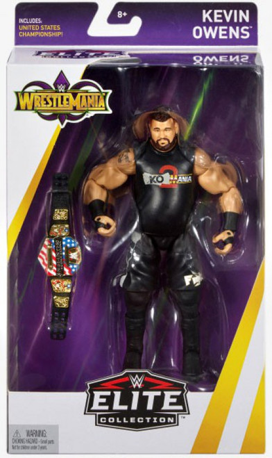 WWE Wrestling Elite Collection WrestleMania 34 Kevin Owens Action Figure [United States Championship Belt]