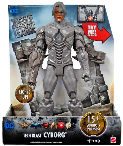 DC Justice League Movie Tech Blast Cyborg Action Figure [Lights & Sounds]