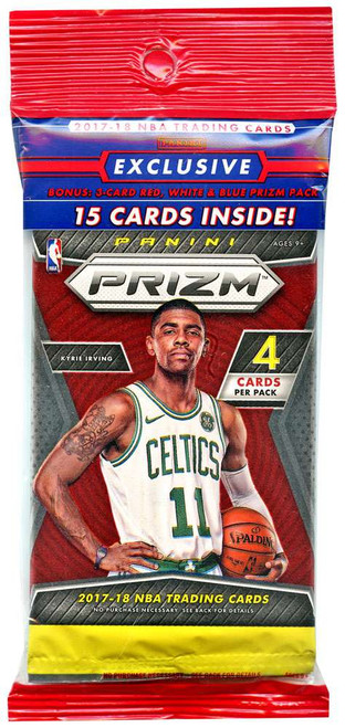 NBA Panini 2017-18 Prizm Basketball Trading Card CELLO Pack [15 Cards, 3 Starburst Prizms!]