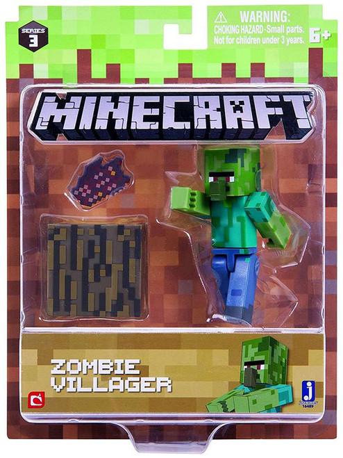 Minecraft Series 3 Zombie Villager Action Figure Set