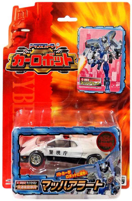 Transformers Japanese Robots in Disguise Mach Alert Prowl Action Figure C-003 [White Police Car, Loose]