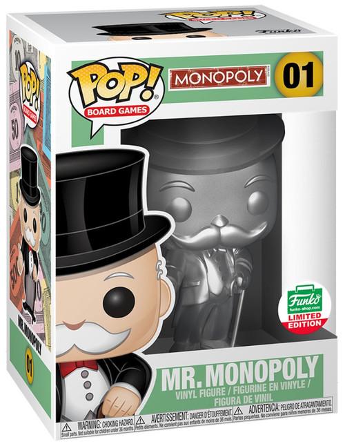 Funko POP! Board Games Mr. Monopoly Exclusive Vinyl Figure [Silver]