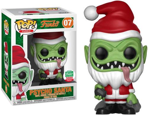 Funko Spastik Plastik POP! Psycho Santa (Green Version) Exclusive Vinyl Figure #07 [12 Days of Christmas]
