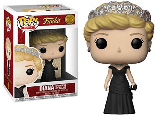 Funko Pop! Royals Diana, Princess of Wales Vinyl Figure #03 [Black Dress, Regular Version]