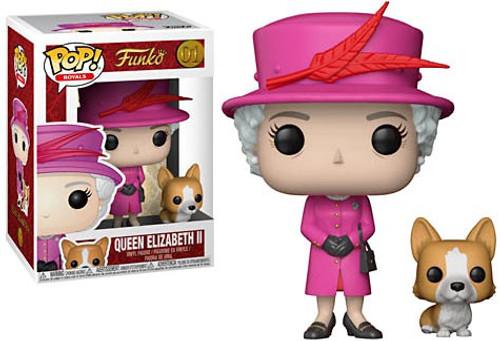Funko Pop! Royals Queen Elizabeth II Vinyl Figure #01 [Pink]
