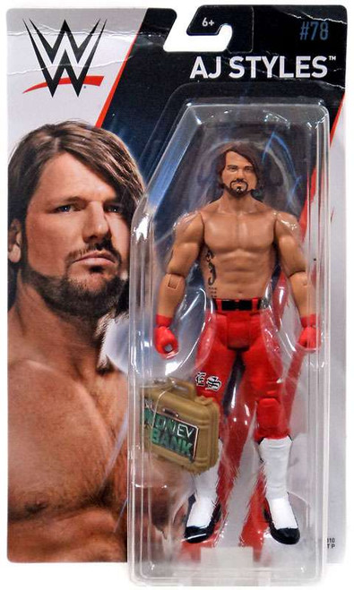 WWE Wrestling Series 78 AJ Styles Action Figure [Money in the Bank Briefcase]