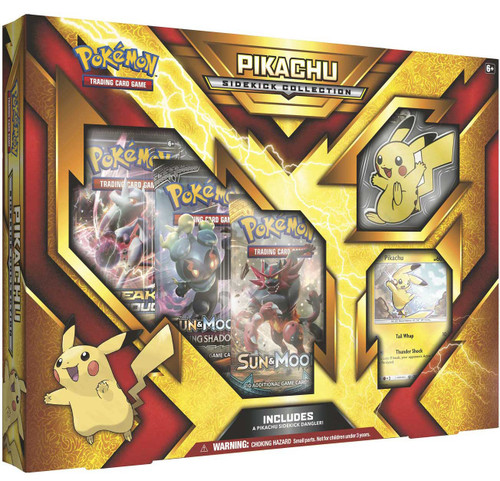 Pokemon Trading Card Game Pikachu Sidekick Collection [3 Booster Packs, Promo Card & Dangler]
