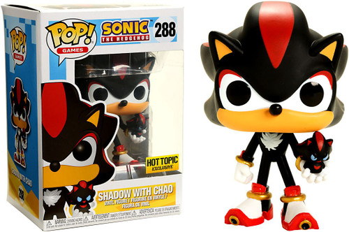 Funko Sonic The Hedgehog POP! Games Shadow with Chao Exclusive Vinyl Figure #288